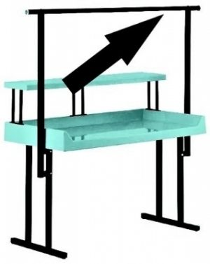 """Full-Length Hanging Rack for 48"""" """"TFD"""" Style Tables"""