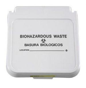 Hamper Label- Biohazardous Waste - Black Lettering- pack of 5