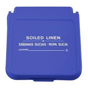 Hamper Label- Soiled Linen - White Lettering- pack of 5