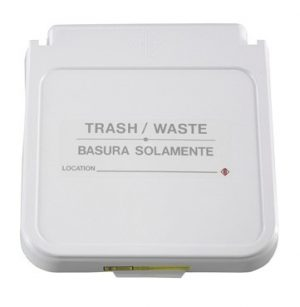 Receptacle Label- Trash/Waste - Gray Lettering- pack of 5
