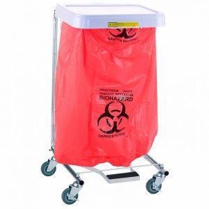 Biohazardous Waste Disposable Poly-Liner Bag- Red-Blk Print (200/case)