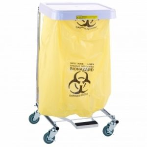 Infectious Linen Disposable Poly-Liner Bag- Yellow - Black Print (200/case)