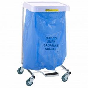 Soiled Linen Disposable Poly-Liner Bag- Blue Bag/Black Print (200/case)