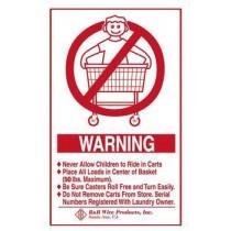 Wall Mounted Warning Sign - English
