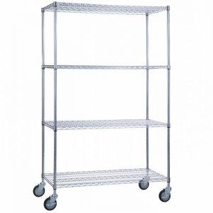 Linen Cart 24x36x72- 4 Wire Shelves