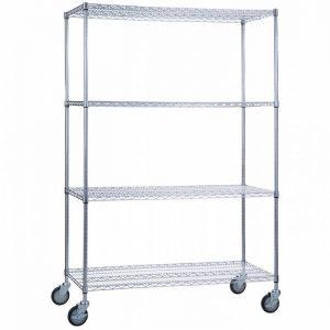 Linen Cart 24x48x72- 4 Wire Shelves