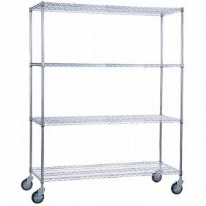 Linen Cart 24x60x72- 4 Wire Shelves