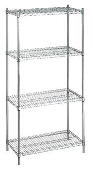 Shelving Unit 24x48x72 (without Casters)- 4 Wire Shelves