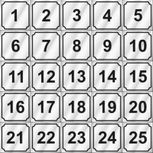 1-25 NUMBERS