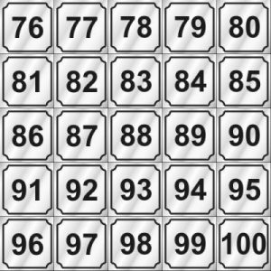 76-100 NUMBERS