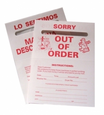 OUT OF ORDER RED ENGLISH/SPANISH