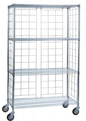 CHROME PLATED SIDE AND BACK ENCLOSURE PANELS FOR 24X36 or 24x48 UNITS