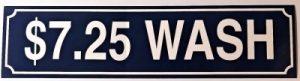 $7.25 WASH DECAL (BLUE)