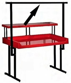 """TR-5 Full-Length Hanging Rack for 60"""" """"TFD"""" Style Tables"""