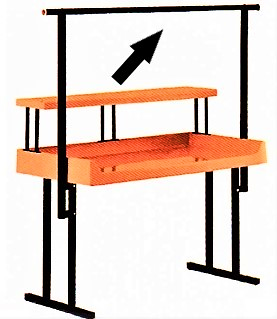 """TR-6 Full-Length Hanging Rack for 72"""" """"TFD"""" Style Tables"""