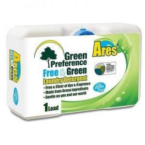 """ARES LIQUID DETERGENT """"HE"""" """"GREEN"""" #50 3.2fl oz. (54/CS)"""