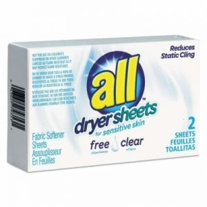 ALL free clear Dryer Sheets Coin-Vend (100)