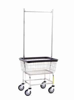 Narrow Laundry Cart* 100D with Double Pole Rack
