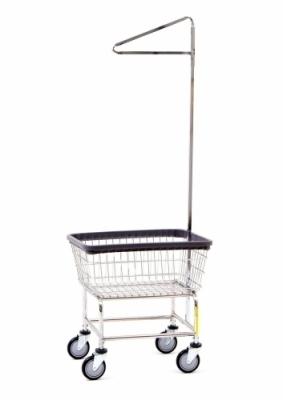 Narrow Laundry Cart* 100D with Single Pole Rack