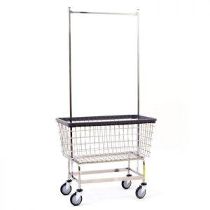 """Mega Capacity """"Big Dog"""" Laundry Cart w/Double Pole Rack"""