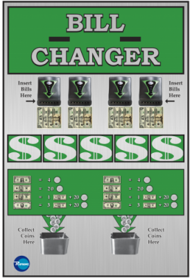 BC-3200RL Rowe Changer w/ Hi-Vis Bill Recycler