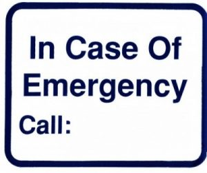 #L115 SIGN---IN CASE OF EMERGENCY - CALL