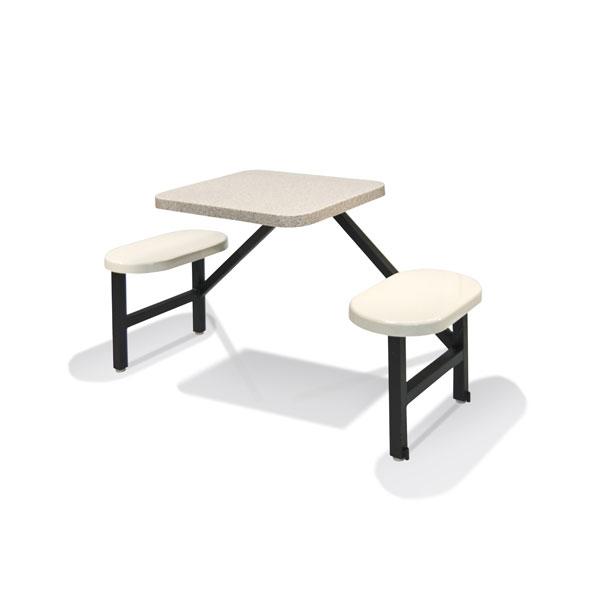 """STF-2224 2 Fiberglass Seats & 24"""" x 24"""" Table"""