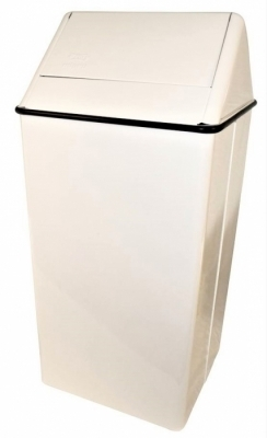 MIPRO TRASH CAN SWING TOP - WHITE
