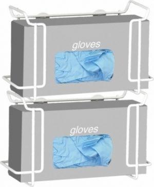Double Wire Glove Box Dispenser- White