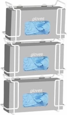 Triple Wire Glove Box Dispenser- White