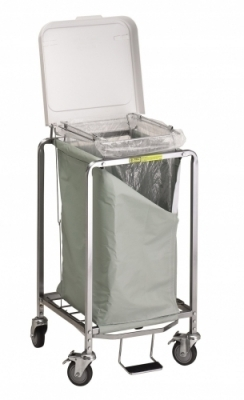 Single Easy Access Hamper with Foot Pedal (specify bag color)