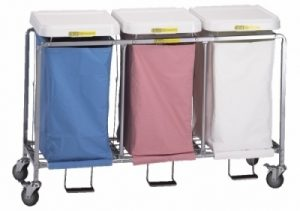 Triple Easy Access Hamper with Foot Pedal (specify bag colors)