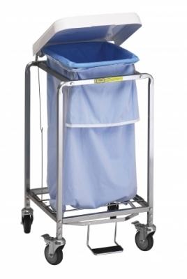 Single Leakproof Hamper with Foot Pedal (specify bag color)