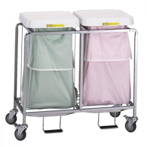 Double Leakproof Hamper with Foot Pedal (specify bag color)