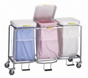 Triple Leakproof Hamper with Foot Pedal (specify bag colors)