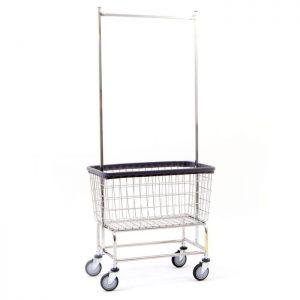 Large Capacity Laundry Cart with Double Pole Rack*