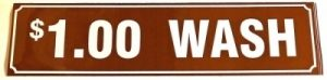 1.00 WASH DECAL (BROWN)