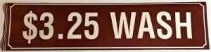 3.25 WASH DECAL (BROWN)