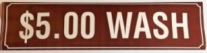 5.00 WASH DECAL (BROWN)