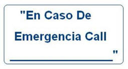 #L115 SIGN (SP) IN CASE OF EMERGENCY-CALL