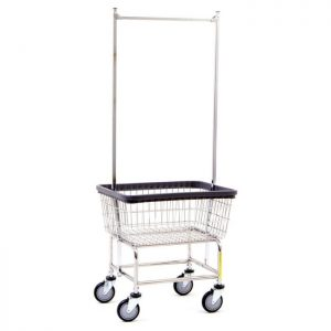 Standard Laundry Cart with Double Pole Rack*