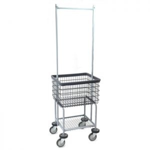 Deluxe Elevated Laundry Cart with Double Pole Rack* Dura-Seven